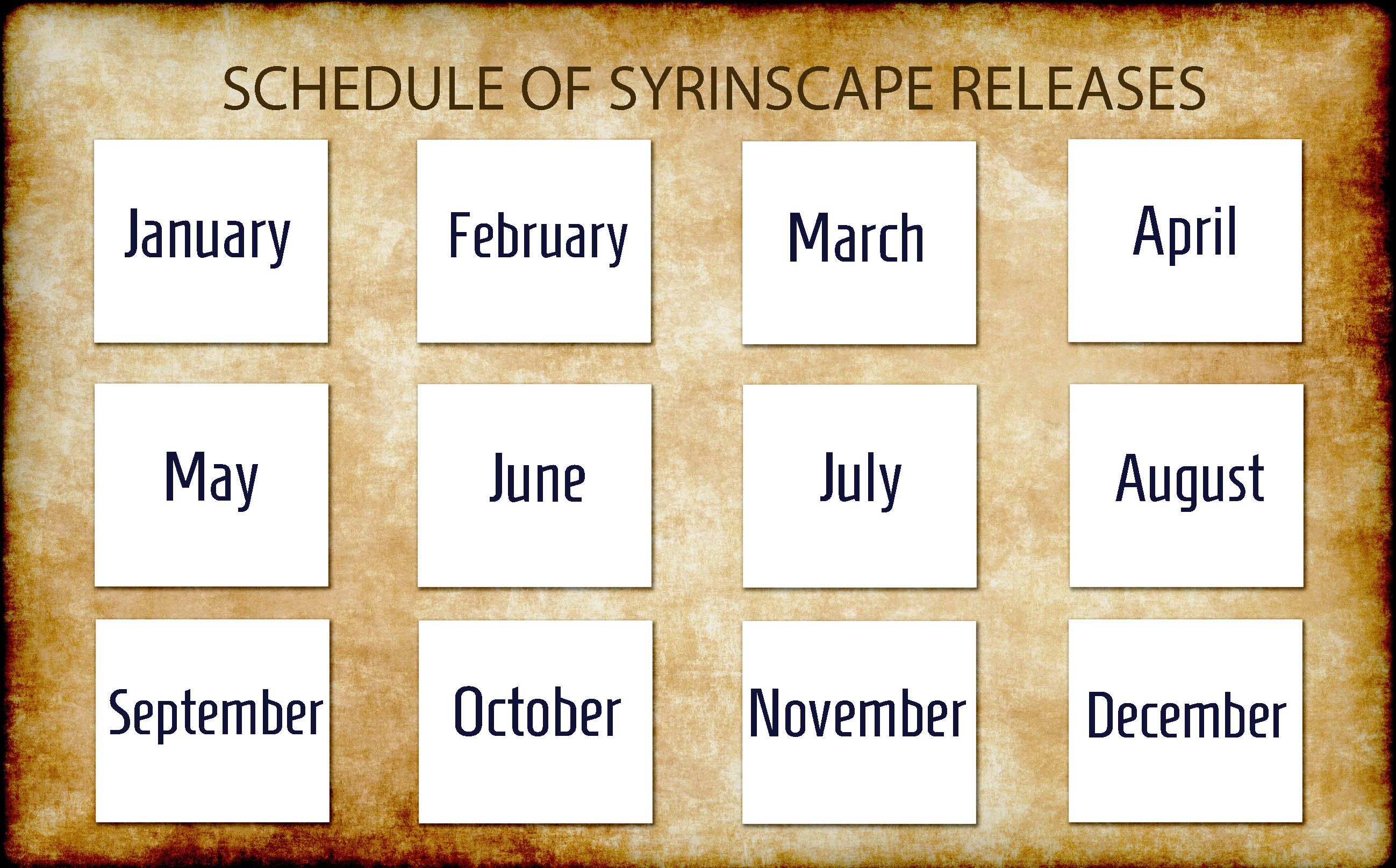 see the schedule of Syrinscape releases