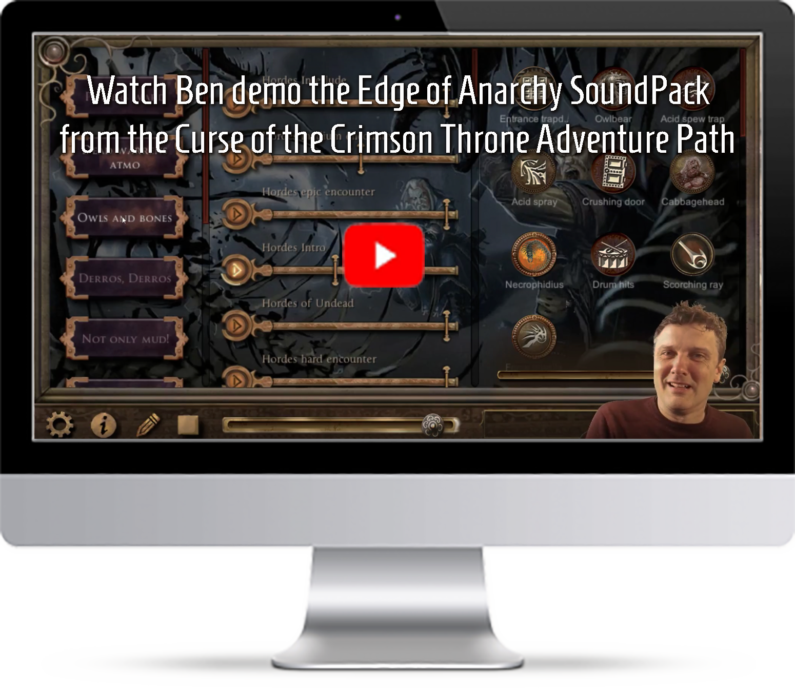 Ben demos the Curse of the Crimson Throne Pathfinder Soundpack