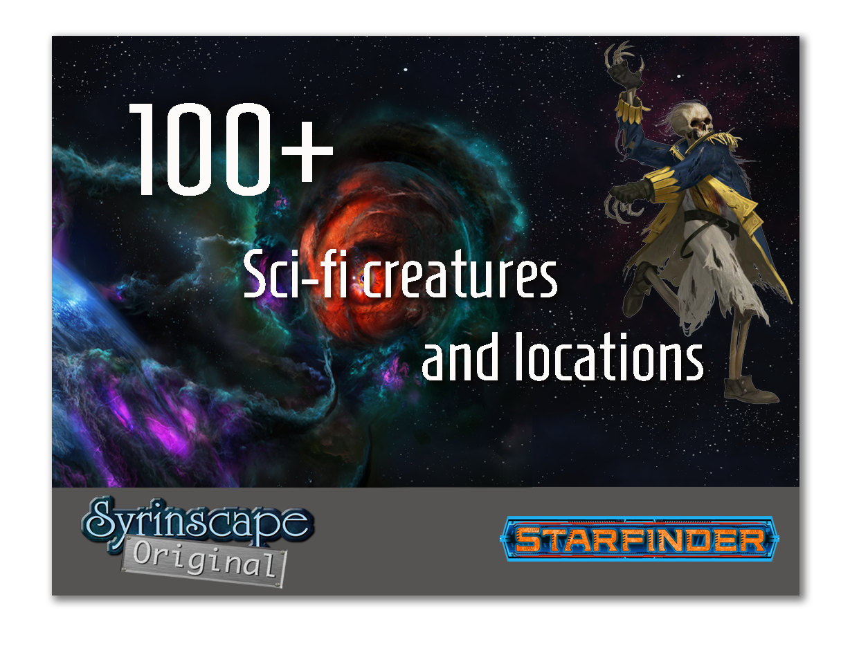Scifi creatures and locations