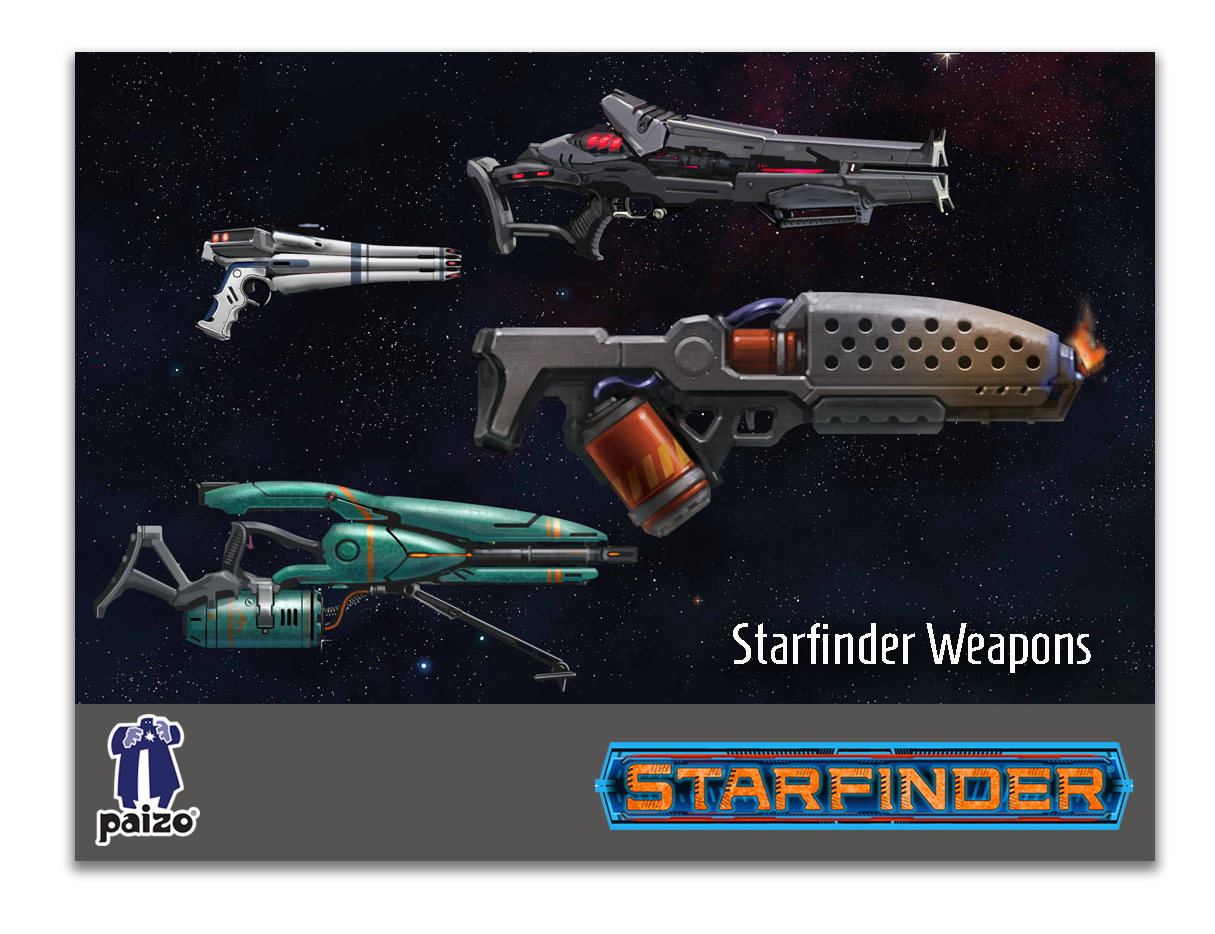 Starfiner Handheld Weapons