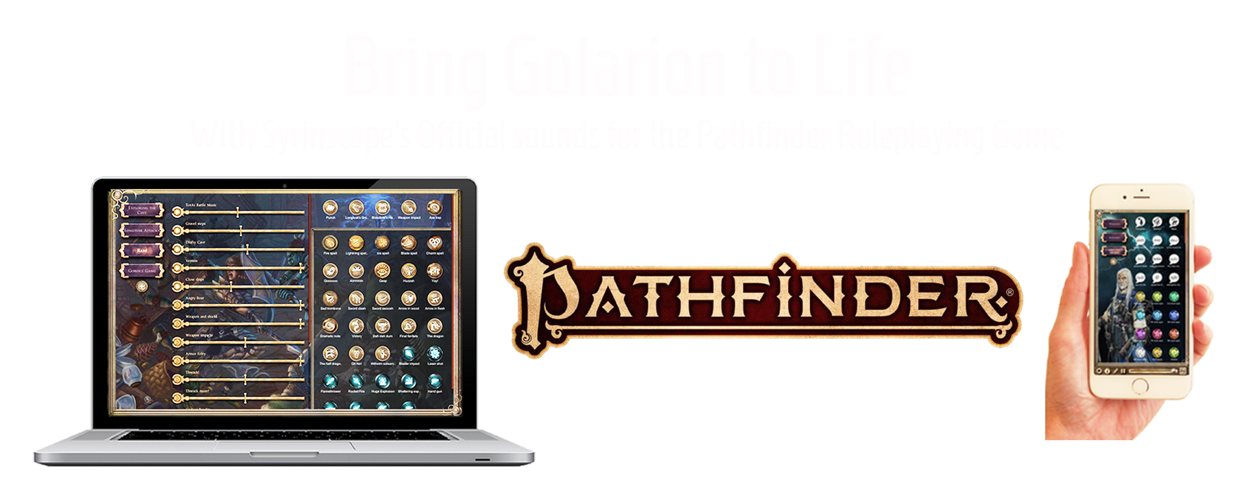 Bring Golarion to life with the official sounds of the Pathfinder RPG